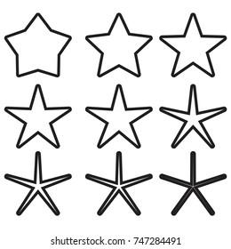 star - Vector icon star Icon Vector / star icon / star- Vector  / gold stars / outline star
