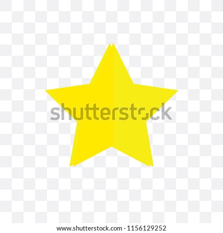 Star vector icon isolated