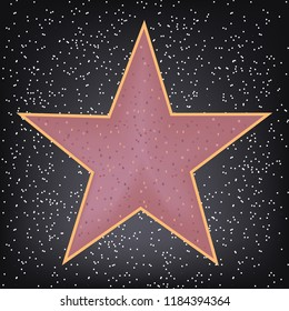 star, vector, real on tile