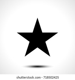 Star vector shape icon symbol isolated on white background. Vector illustration.