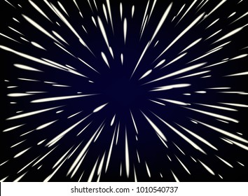 Star wars. Flying through the stars at the speed of light.