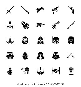 Star wars glyph icons