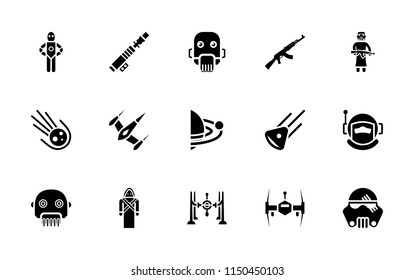 Star wars glyph vector pack