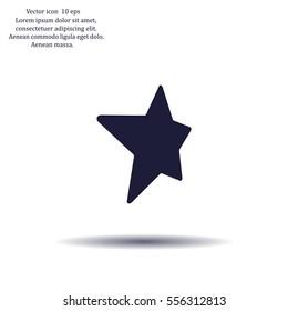 Star web icon. vector design