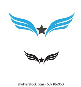 star wing logo template vector