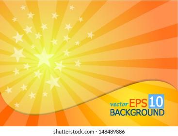 A starburst background