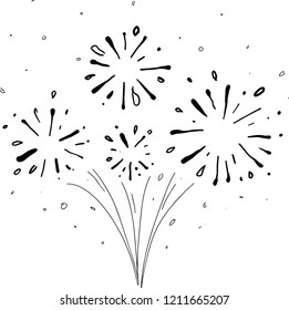starburst hand drawn