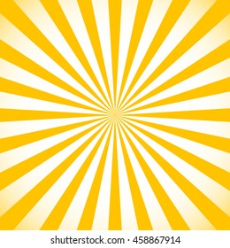 Starburst, sunburst background. Circular monochrome pattern with radial lines.