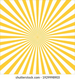 Starburst, sunburst background. Vintage abstract template with yellow sunrays eps 10