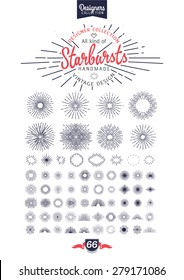Starbursts Bundle for vintage retro logos, signs. - Designers Collection