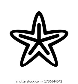 starfish icon or logo isolated sign symbol vector illustration - high quality black style vector icons