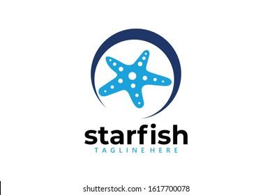 starfish logo icon vector isolated