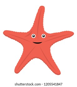 Starfish are marine invertebrates, they typically have a central disc and five arms