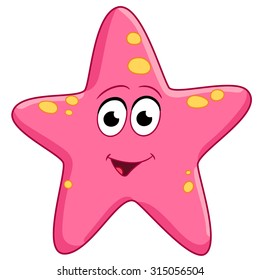 Starfish Cartoon Images, Stock Photos & Vectors   Shutterstock