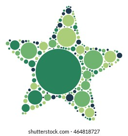 starfish shape vector design by color point