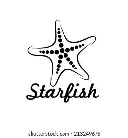 starfish vector design template