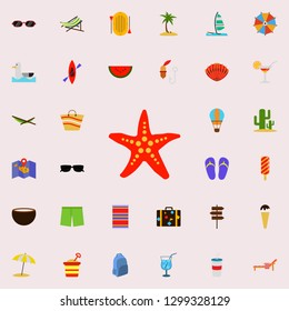 starlet flat icon. colored Summer icons universal set for web and mobile