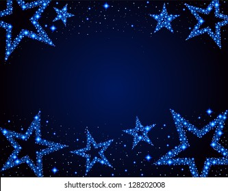 Starry background, EPS 10, file contains transparency