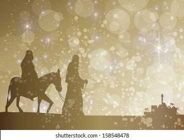 starry mary and joseph