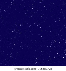 Starry seamless pattern, splashed hand draw universe and galaxy repeatable pattern. Dots, spray paint on dark background, vector universe seamless background. Starry night sky with speckle, particles