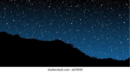 Starry Skies Illustration