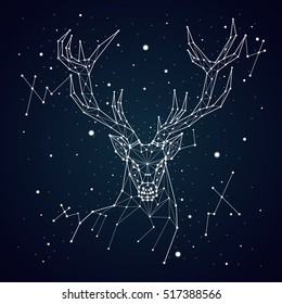 starry sky constellation deer