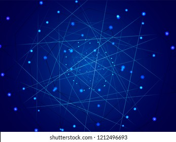 Starry sky map, random schematic bright stars