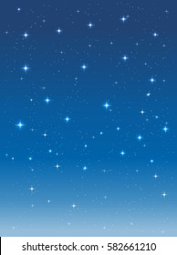 starry sky in the night. vector vertical background