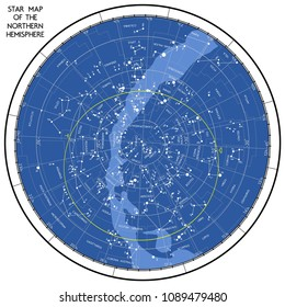 The of the starry sky of the northern hemisphere. Vector is not traced, many layers.