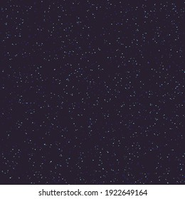 Starry sky seamless pattern. Vector abstract background.