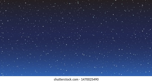 Starry space background in the night - stock vector