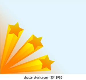 Stars 3d - work with vectors - illustration of free way