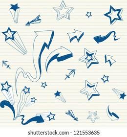 stars & arrows doodle