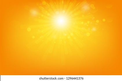 Stars burst, light rays shiny effect, Sun rising abstract background vector illustration