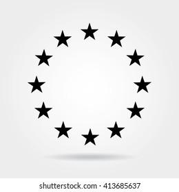 Stars in circle