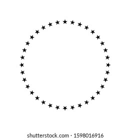 Stars circle icon design. Stars circle icon in trendy flat style design. Vector illustration.