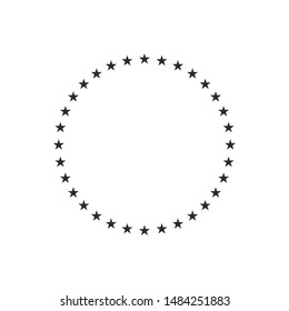 Stars in circle icon template black color editable. Stars in circle symbol vector sign isolated on white background. Simple logo vector illustration for graphic and web design.
