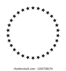Stars in circle icon vector illustration graphic design