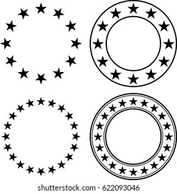 Stars In Circle Vector Illustration
