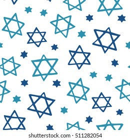 Stars of David seamless pattern