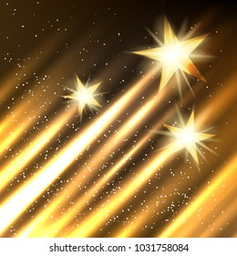Stars growing takeoff background. Golden cinematography entertainment industry backdrop
