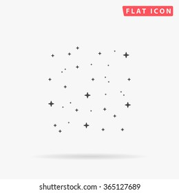 Stars Icon Vector. Simple flat symbol. Perfect Black pictogram illustration on white background.