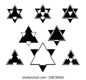 Stars icons set symbols. Simple flat style metro,jude vector illustration.