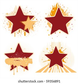 stars and ink design element