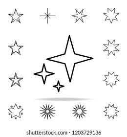 stars line icon. Web icons universal set for web and mobile