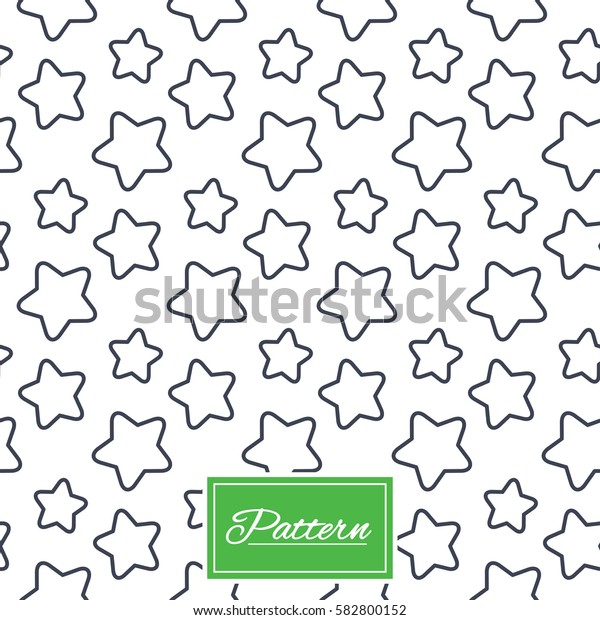 Stars lines texture. Stripped geometric seamless pattern. Modern repeating stylish texture. Abstract minimal pattern background. Vector