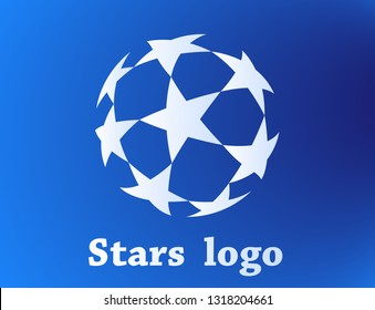 stars logo template with gradient color
