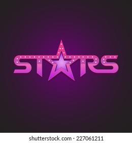 Stars logotype fashion style concept.