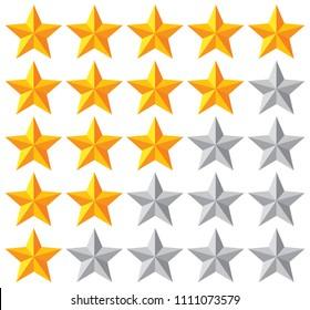 stars rating vector illustration