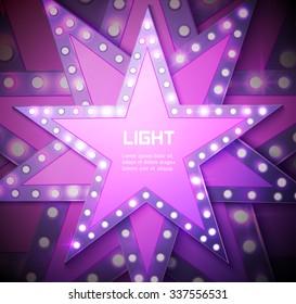 Stars retro light banner. Vector illustration eps 10
